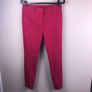 LOFT Marissa Skinny Pants Magenta Pink 6